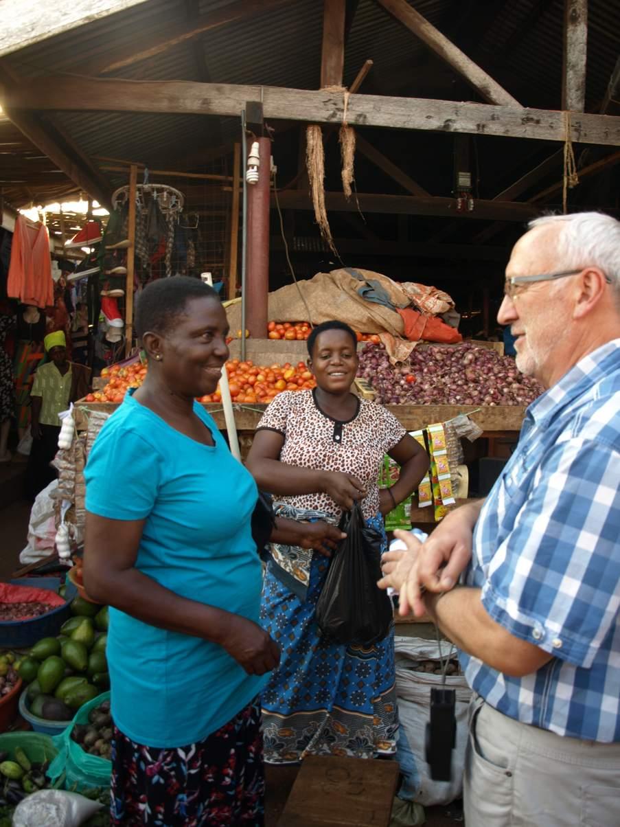 auf dem markt mit Rose